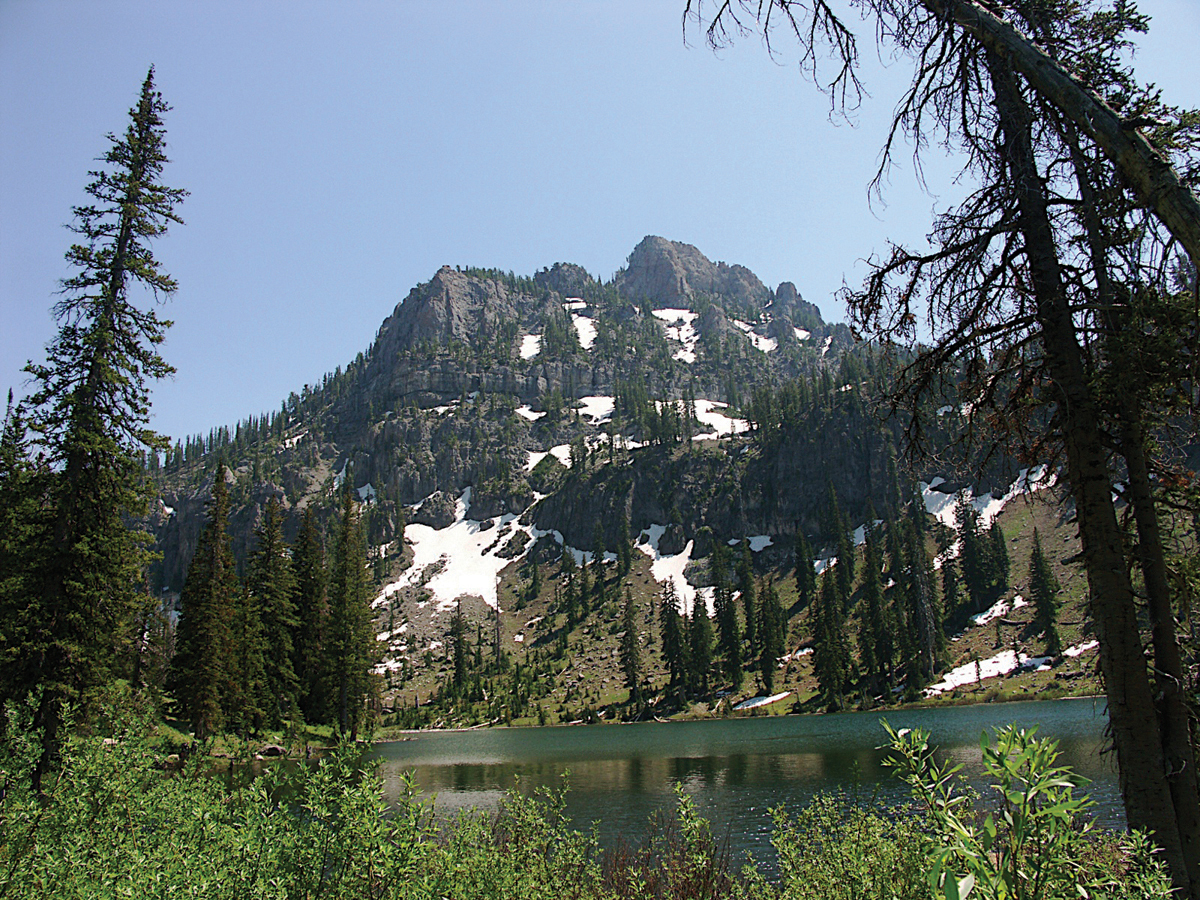 ... feet) and White Pine Lake, Cache National Forest, Cache County, Utah