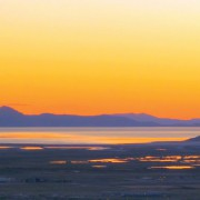 Sunset over Great Salt Lake, Davis and Tooele Counties, Utah Photographer: Mark Milligan; © 2013
