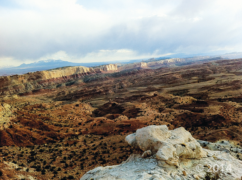POTD 2-10-15 San Rafael Swell, Henry Mountains, Emery County