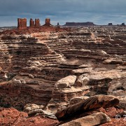 Chocolate Drops, Maze District of Canyonlands National Park, Wayne County, Utah Photographer: Tyler Knudsen; © 2015