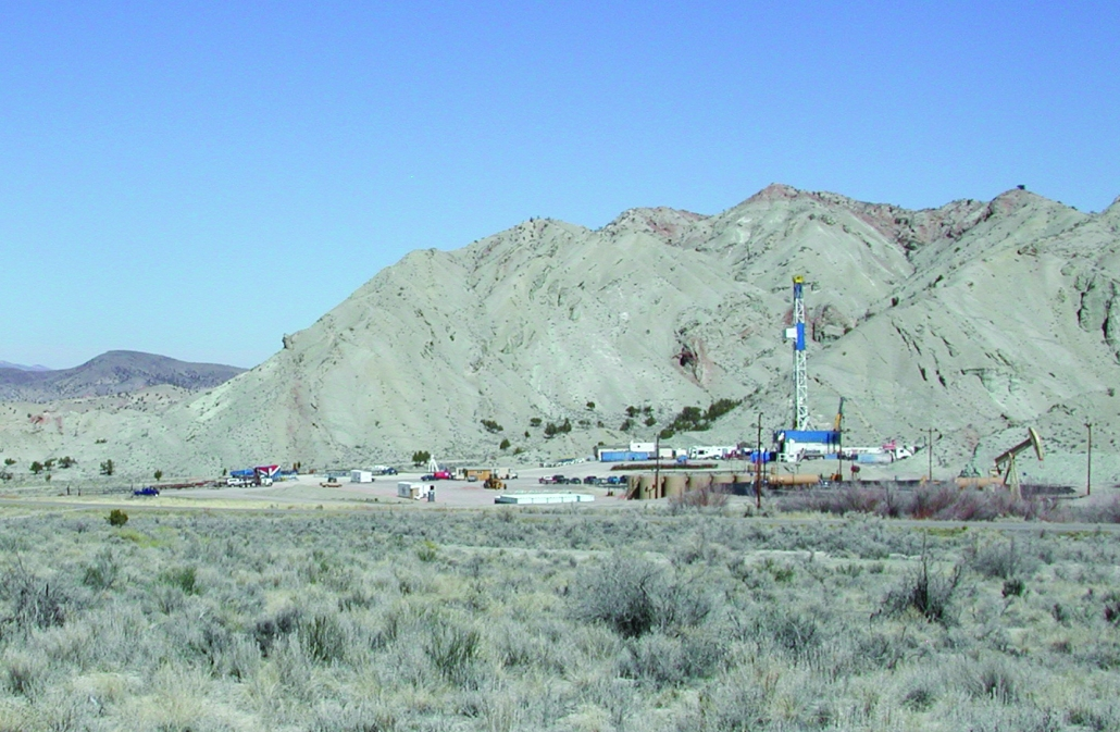Covenant oil field, east of Richfield, Sevier County, Utah. The subsurface mineral rights in the field are owned by the BLM, SITLA, and a private entity.