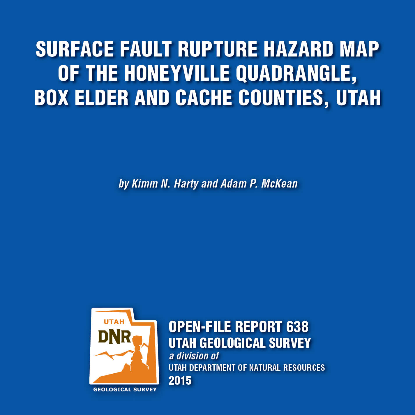 OFR-638 Insert, Open File Repot, Honeyville Quadrangle
