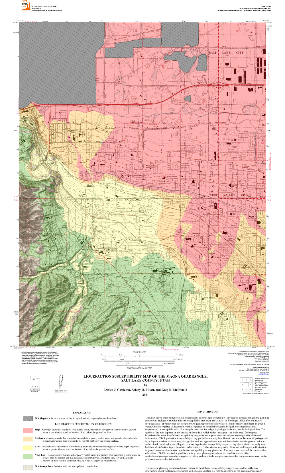 Geologic Hazard Maps Utah Geological Survey