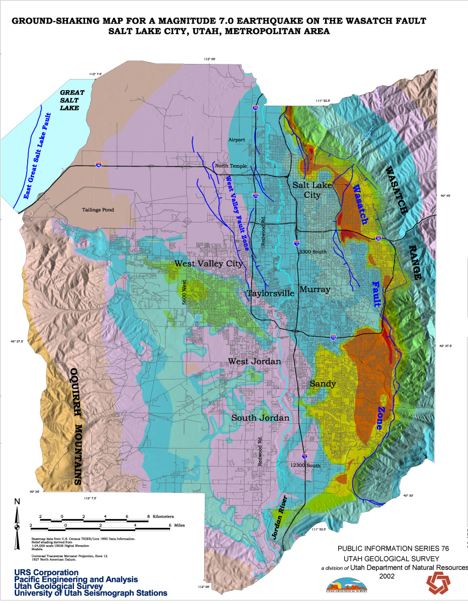 Ground Shaking – Utah Geological Survey