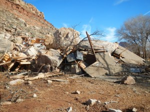 December 12, 2013, fatal rockfall in Rockville, Utah. Two people perished when their house was struck by the rockfall.