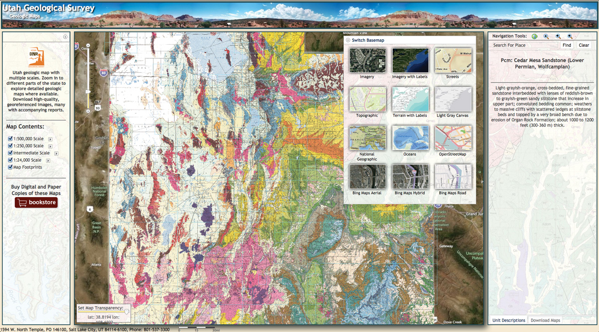 The new Interactive Geologic Map of Utah is built from more than 300 published geologic maps.
