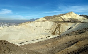 Photo of gravel pit shows view to the north from Flight Park State Recreation Area in Utah County.