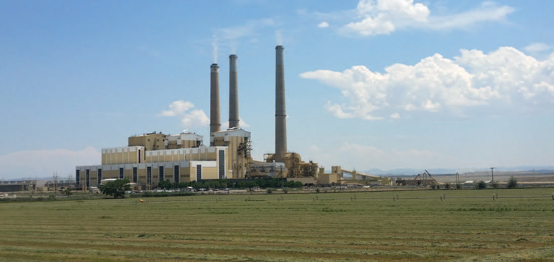 The Hunter Plant south of Castle Dale. One of two PacifiCorp coal-fired power plants in Emery County that are being considered for the CarbonSAFE Rocky Mountains project. Photos courtesy of Ian Andrews, PacificCorp.