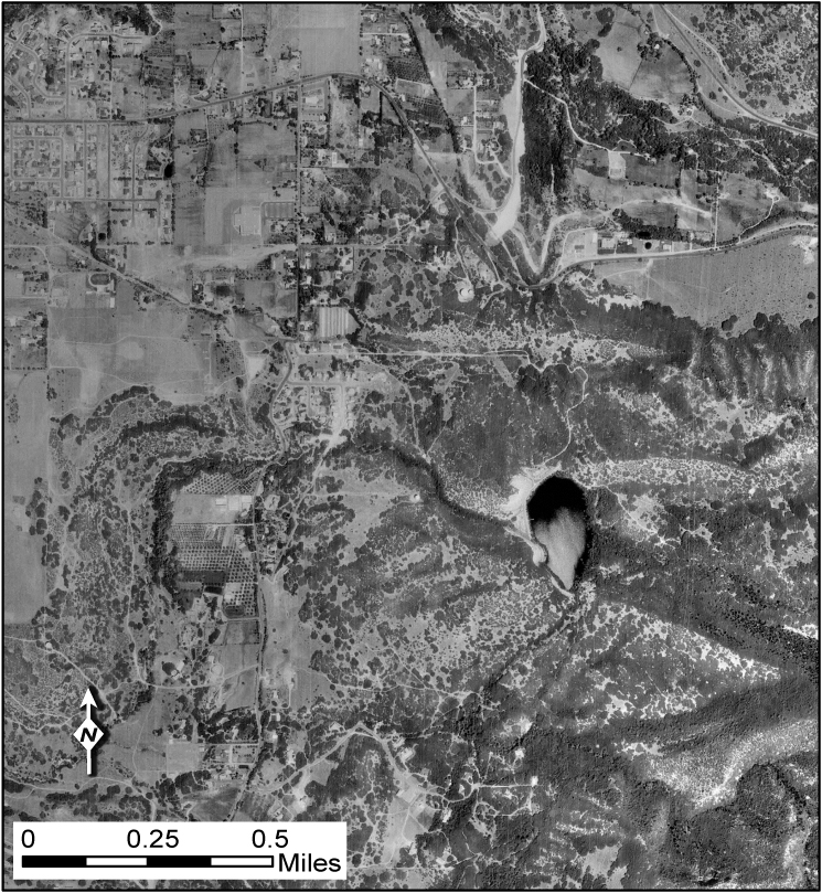 Historical aerial photography showing undeveloped areas. Airborne data for mapping the Wasatch fault zone at the mouth of Little Cottonwood Canyon, Utah.